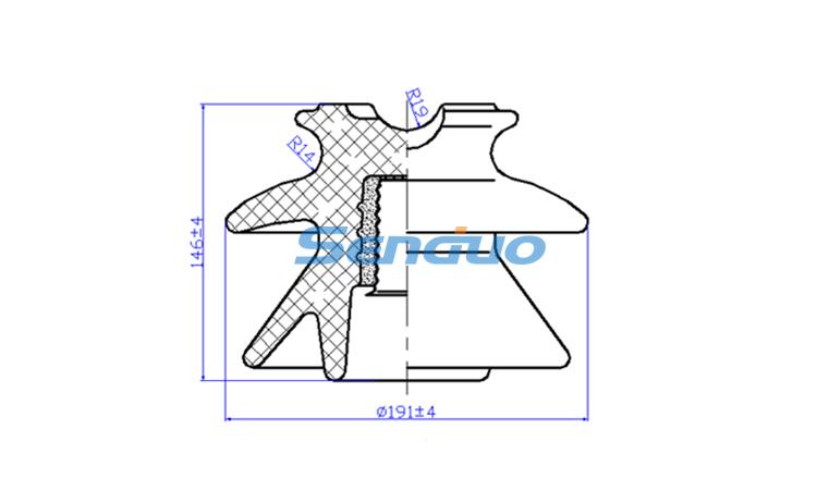 ANSI 56-1 Porcelain Pin Type Insulators Manufacturer-Senduo